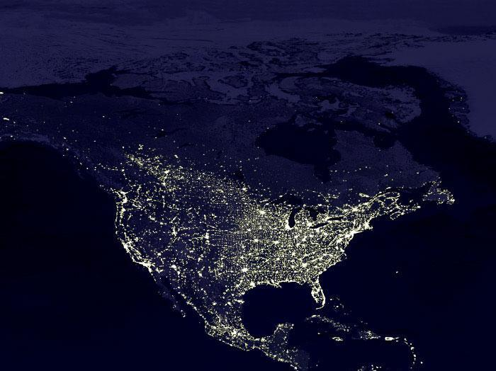 Some Satellite Photos of Earth at Night